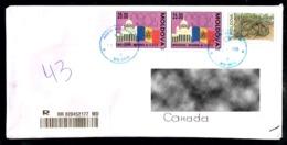 Moldova 1992 CSCE 1993 Snake Cover To Canada - Moldavie