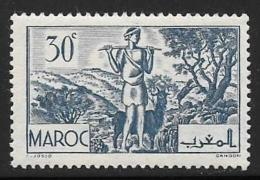 French Morocco, Scott # 156 Mint Hinged Goatherd, 1939 - Morocco (1891-1956)