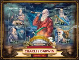 Maldives 2016  Charles Darwin , Dinosaur - Maldives (1965-...)