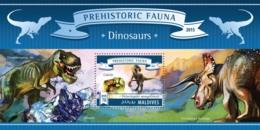 Maldives  2015 Dinosaurs - Maldives (1965-...)