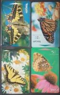 Telecom New Zealand Complete Set Of 3 Butterfly Auction Cards - Nueva Zelanda