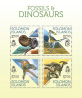 Solomon Islands  2013 Fossils And  Dinosaurs - Solomon Islands (1978-...)