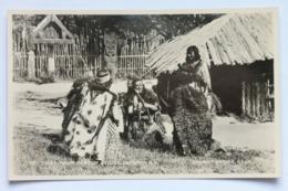 TITI-TOREA, MAORI GAME OF STICKS, ROTORUA, NEW ZEALAND N.Z. Real Photo Postcard RPPC - Nouvelle-Zélande