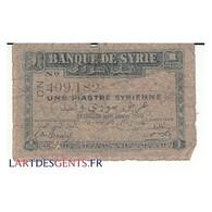 SYRIE 1 PIASTRE - Siria