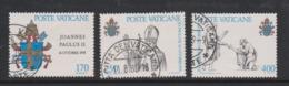 Vatican City S 661-63 1979 Inauguration Of Pontificate Of Pope John Paul II.used - Vatican