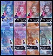 East Caribbean 10-20-50-100 Dollars, (2019), Polymer, UNC - East Carribeans
