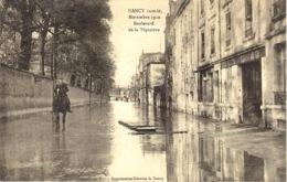 NANCY Inondé -Novembre 1910 - Boulevard De La Pépinière  - Imprimeries Réunies - Nancy
