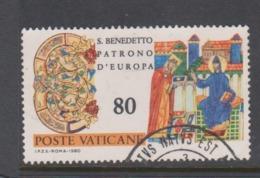 Vatican City S 684 1980 1500th Anniversary Birth Of St Benedict .80 Lire Used - Vatican