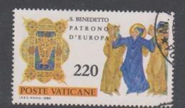 Vatican City S 687 1980 1500th Anniversary Birth Of St Benedict .220 Lire Used - Vatican