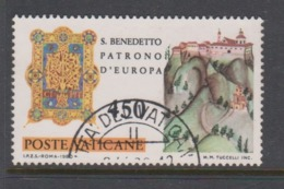 Vatican City S 688 1980 1500th Anniversary Birth Of St Benedict .450 Lire Used - Vatican