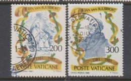 Vatican City S 707-08 1981 6th Centenary Death Of Ruusbroec.used - Vatican