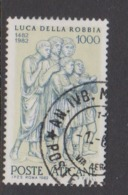 Vatican City S 723 1982 500th Death Anniversary Of Luca Della Robbia.1000 Lire,used - Used Stamps
