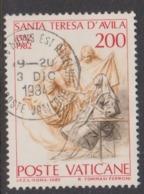 Vatican City S 726 1982 400th Death Anniversary Of St Teresa Of Avila .200 Lire Used - Vatican