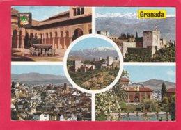 Modern Multi View Post Card Of Granada, Andalusia, Spain,A23. - Granada