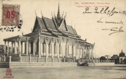 CAMBODGE PHNOM PENH Pagode Royale Face Nord Est   + Beau Timbre15 Surchargé 5 Indochine  RV - Kambodscha
