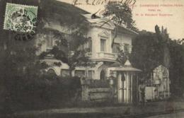 CAMBODGE PHNOM PENH Hotel De M Le Resident Superieur    + Beau Timbre 5 Indochine  RV - Cambodge