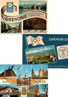 Réf.817/ Lot De 3 Cartes Postales - J.O - Grenoble 1968 - Olympic Games