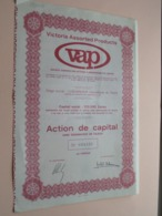 VAP - VICTORIA ASSORTED PRODUCTS Zaïre / Action De Capital Au Porteur - N° 033521 ( Zie/Voir Foto ) ! - Afrika