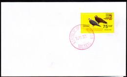 SOUTH SUDAN - Specimen Postmark MALAKAL On Cover With 75 SSP Overprint Stamp On 2SSP Birds #447 Südsudan Soudan Du Sud - South Sudan