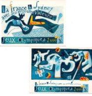 Réf.824/ Lot De 2 Cartes Postales - J.O - Sydney 2000 - Olympic Games