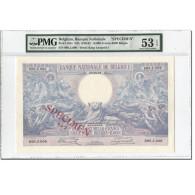 Billet, Belgique, 10,000 Francs-2000 Belgas, 1929-1942, Specimen, KM:105 - [ 2] 1831-... : Koninkrijk België