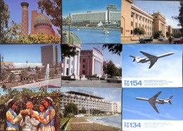 Lot 75 Cartes - Russie URSS Ukraine Ouzhébistan Avion.... (see All Scanned) - Postkaarten