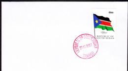 SOUTH SUDAN - Specimen Postmark YAMBIO On Cover With 100 SSP Overprint Stamp On 1SSP Flag #445 Südsudan Soudan Du Sud - Sudán Del Sur