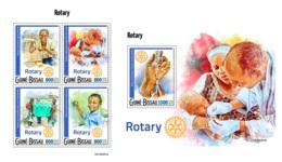 Guinea Bissau 2019 Rotary Internation Polio Drops Medicine MS+S/S GB190904 - Célébrités
