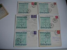 1942 Lot De 15 Cartes Journee Du Timbre Restons Groupes - Poststempel (Briefe)
