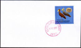 SOUTH SUDAN - Specimen Postmark AWEIL On Cover With 250 SSP Overprint Stamp On 1SSP Birds #446 Südsudan Soudan Du Sud - Zuid-Soedan