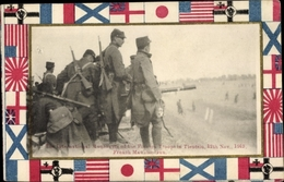 Cp Tianjin Tientsin China, International Manooeuvre Of The Foreign Troops 1913, French Machine Gun - China
