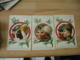 Lot 3 Carte  Les Allies Italie Sicile Piemont Legions Africaines Russie Portrait Edi Paul Heckscher - Guerra 1914-18