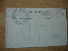 Hopital 59 Bis Hotel Moderne Grenoble Cachet Franchise Postale Guerre 14.18 - Postmark Collection (Covers)