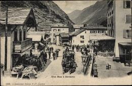 Cp Zermatt Kanton Wallis Schweiz, Une Rue - VS Valais
