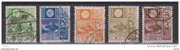 GIAPPONE:  1922/29  DEFINITIVA  -  5  VAL. US. -  YV/TELL. 170//204 - 1926-89 Emperor Hirohito (Showa Era)