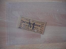 Ticket Metro Poincone  Publicite 8 Place Madeleine  M P - Europe