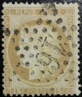 FRANCE Y&T N°55 Cérès 15c Bistre. Oblitéré étoile De Paris N°16 - 1871-1875 Ceres