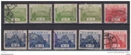 GIAPPONE:  1926/39  DEFINITIVA  -  INSIEME  10  VAL. US. -  YV/TELL. 191//253 - 1926-89 Emperor Hirohito (Showa Era)