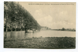 CPA  02 : BOURG ET COMIN  Canal Et Péniche    A  VOIR   !!!! - France