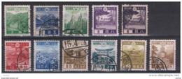 GIAPPONE:  1937/40  DEFINITIVA  -  INSIEME  11  VAL. US. -  YV/TELL. 264//276 - 1926-89 Emperor Hirohito (Showa Era)