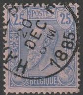 COB N° 48 Obl.  HARELBEKE 1885 - 1884-1891 Leopoldo II