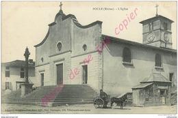 """69.  POULE  ( Les Echarmeaux ) . L""""eglise . - Autres Communes"""