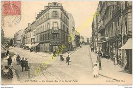 92. ASNIERES . La Grande Rue Et La Rue De Paris . - Asnieres Sur Seine