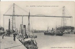 Carte Postale Ancienne De Nantes Le Pont Transbordeur Pris En Aval - Nantes