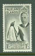 Falkland Is: 1952   KGVI   SG180    1/-       MH - Falkland Islands