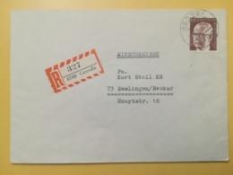1975 BUSTA RACCOMANDATA GERMANIA DEUTSCHE BOLLO PRESIDENT GUSTAV HEINEMANN ANNULLO OBLITERE'  GERODA GERMANY - [7] Federal Republic