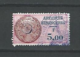TIMBRE FISCAL SURCHARGE AFFAIRES ÉTRANGÈRES - F 5,00 BLEU CERCLE 141 MEASSADE    OBLITÉRÉ - Revenue Stamps