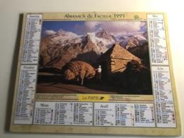 Calendrier - Almanach Du Facteur AIN - 1995 - Retour De Fenaison Au Pays De La Meije Dauphiné / Vallee De La Santoire - Grossformat : 2001-...