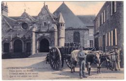 PLESTIN-LES-GREVES  - Attelage De Boeufs - Plestin-les-Greves