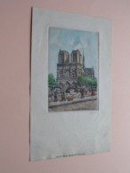 PARIS QUAI St. MICHEL ( Aquarelle Sup EAU-FORTE Originale ) Gekreukt Maar OK ( Format +/- 25,5 X 15,5 Cm. ) ! - Estampes & Gravures